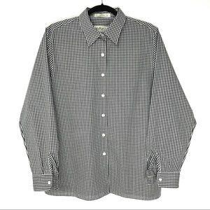 Orvis 14 Black White Gingham Check L/S Shirt